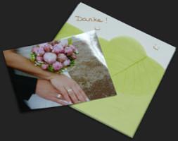Dankeskarten von zufriedenen Kunden, die ihre Trauringe selbst geschmiedet haben